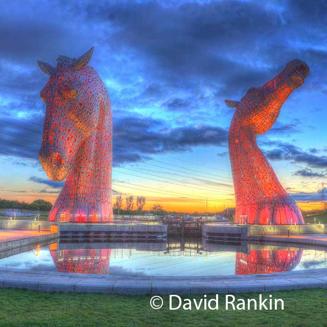 the Kelpies HDR print